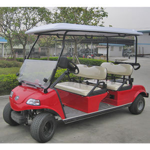 4seat Golf Cart with Solar Panel Solar Battery Car pictures & photos