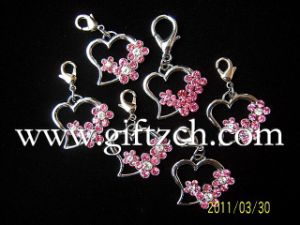 Cherry Decoration Rhinestone Metal Pendant