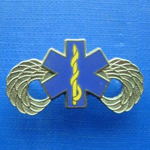 Gold Plating Badge with Printing Blue Color (GZHY-BADGE-019) pictures & photos