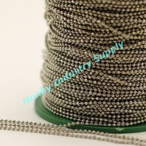 Tying 2.4mm Bright Silver Metal Hollow Bead Jewelry Chain pictures & photos
