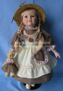 "16"" Porcelain Country Doll (C447)"