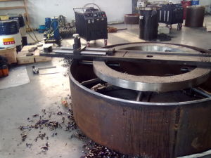 Inner Mounted Flange Facing Machine/ Heavy-Duty Flange Facer (HYI) pictures & photos