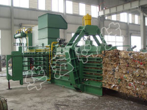 Hydraulic Horizontal Full Automatic Baler Machine for Recycling pictures & photos
