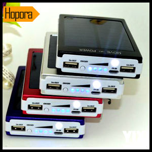 Portable 30000mAh Solar Panel Power Bank Mobile Phone Power Charger Battery pictures & photos