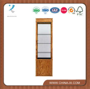 Customized Square Tower Display Case with Storage Cabinet pictures & photos