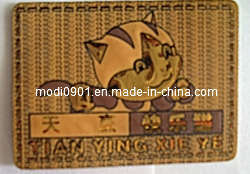 Leather Patch Wholesale Durable Custom Embossed Leather Patch for Jeans Label pictures & photos