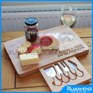 Bamboo Cheese Board with Cheese Knife Set pictures & photos