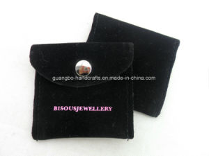 Cheap Wholesale Small Black Button Printing Pouches Bags pictures & photos