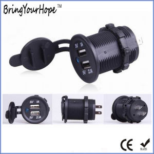 Black Motorcycle Use Dual USB Charger (XH-UC-025) pictures & photos