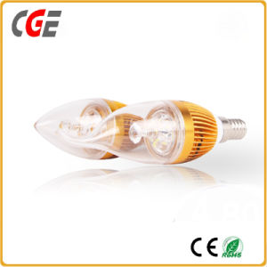 Flame Shape E12 6W LED Candle Light Bulb pictures & photos