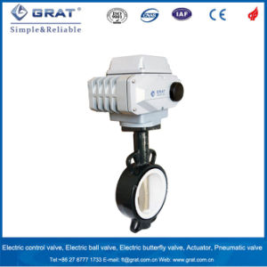 Dn400 Cast Steel Stainless Steel Electric Motoized Triple Eccentric Butterfly Valve pictures & photos