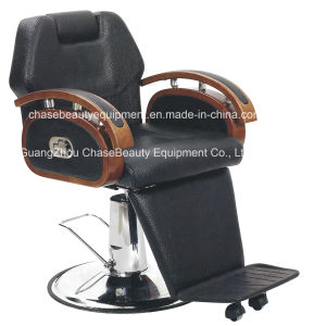 Barber Chair with Different Color Solid Wood Armrest for Man in Salon Beauty pictures & photos