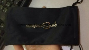 Customized Hot Stamp Golden Microfiber Glasses Pouch pictures & photos