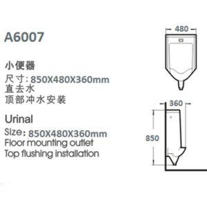 China Wall Hung Sensor Urinals pictures & photos