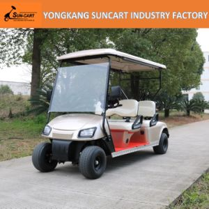 4 Seaters Electric Hotel Cart for Sale (RY-EZ-401E) , 4 Passenger Golden Color Golf Car pictures & photos