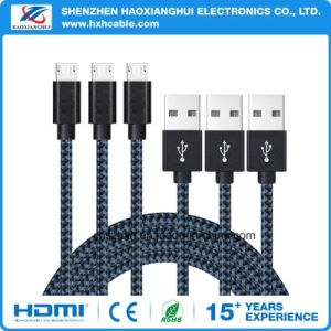 Braiding Insulated Micro USB Cable Charger and Data Sync Cable for Andriod Mobile pictures & photos
