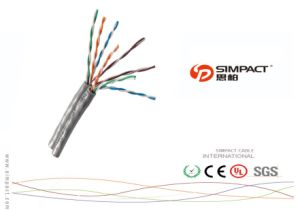 24AWG UTP Cat5e Computer Cable White PVC pictures & photos