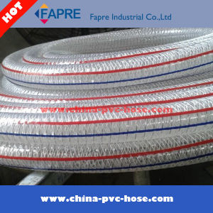 2017 Flexible High Pressure Steel Wire and Fiber Braided Reinforced PVC Clad Tubing Hose pictures & photos