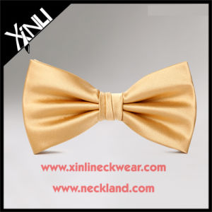 100% Silk Jacquard Woven Wholesale Gold Bow Tie pictures & photos