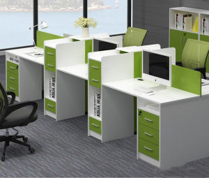Aluminum Glass Partition Wall Cluster Staff Workstation Office Furniture (HX-6M201) pictures & photos