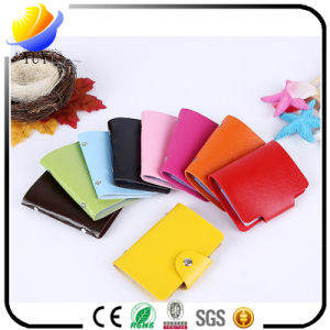 Beautiful Candy Color PU Multi Card Holder pictures & photos