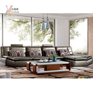 Modern Leather Sofa with Corner (1026A)