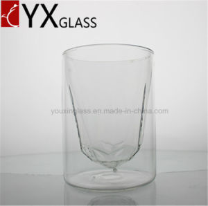 320ml New Design Borosilicate Glass Cup with Polygonous Bottom/Personal Double Wall Glass Cup /Clear Coffee Espresso Cup pictures & photos