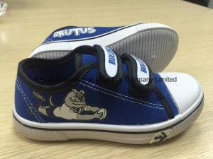 OEM Children′s Velcro Canvas Shoes Children Casual Shoes Skate Shoes (HH17601) pictures & photos