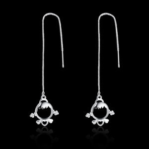 Popular Plating Silver Women Earrings Jewelry pictures & photos