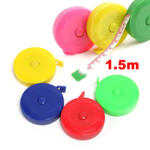 Multicoloured Plastic 1.5m Body Waist Soft Tape Measure pictures & photos
