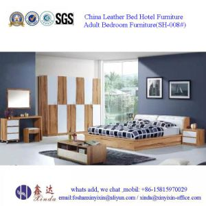 Malaysian Bedroom Sets Furniture Single Bed with Leather (SH-001#) pictures & photos