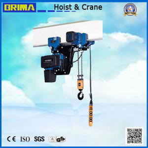 Brima European Electric Chain Hoist with Trolley pictures & photos