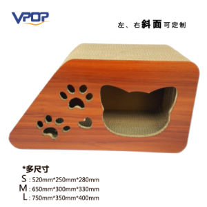 Customized Slope Corrugated Cat Scratcher Cat Toy with 3 Sizes pictures & photos