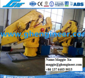 Electric Hydraulic Winch Luffing Hoisting Knuckle Boom Ship Crane pictures & photos