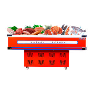 Direct Cooling Seafood Display Showcase with LED Light pictures & photos