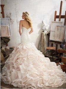 2017 Ruffle Evening Prom Party Wedding Dresses Wm1711 pictures & photos