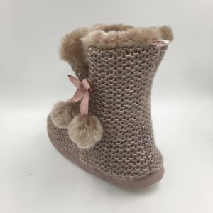 Lds Knit MID-Calf Indoor Boots pictures & photos