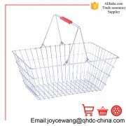 Chrome Plated Wire Basket 22L-25L with Double Handles Used in Supermarket or KTV