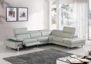Modern Corner Sofa with Electric Recliner Genuine Leather Sofa pictures & photos