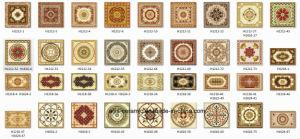 High Grade Polished &Golden Glazed Puzzle Crystal Floor Tile pictures & photos