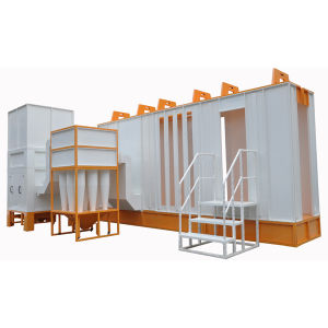 Automatic Powder Coating Spray Booth with Filter Powder Recovery System pictures & photos