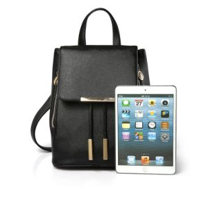 Fashion Leather Women Lady′s Travel Shopping Weekender Backpack Shoulder Bag pictures & photos