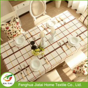 Contemporary Tablecloth Waterproof Plaid Dinner Table Cloth