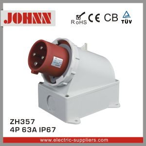 IP67 4p 63A Surface Mounted Plug for Industrial pictures & photos