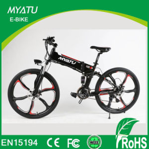 26 Inch Aluminum Folding Electric Bike with Integrated Magnesium Alloy Rim pictures & photos