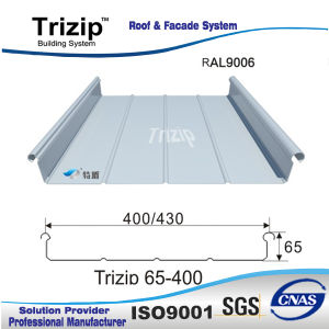 Aluminium Standing Seam Roofing Sheet (Trizip400 white aluminium9006) pictures & photos