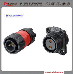 Cnlinko Brand 2pin Circular Connector IP65 Plastic Plug and Panel Mount Socket for Solar Panel and Electrical Bike pictures & photos