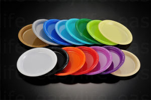 7′′ (18cm) P071815 Disposable Plastic PS Colorful Round Plate pictures & photos