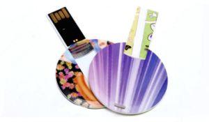 Mini Round Shape Plastic Card USB Accept Logo Customized pictures & photos