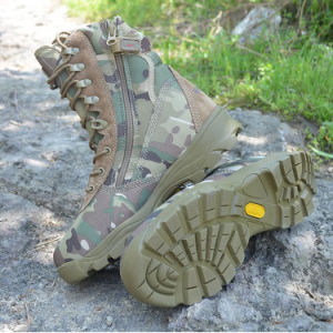 Men Shoes Tactical Gears Desert Water-Proof Military Tactical Outdoor Camping Travel Leather Strong Rubber Sole Boot pictures & photos